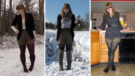 шорты зимой