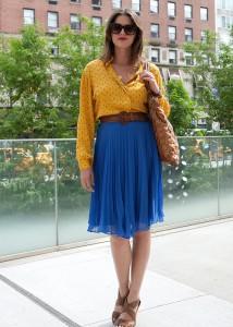 юбка синего цвета фото