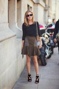 юбка из шерсти