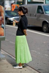 юбка зеленого цвета