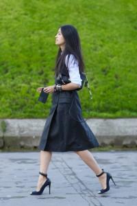 С чем носить шерстяную юбку фото