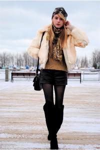 С чем носить шорты зимой