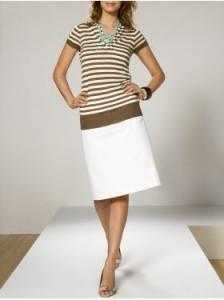 С чем носить белую юбку средней длины