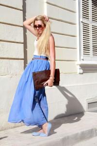 Синяя юбка фото