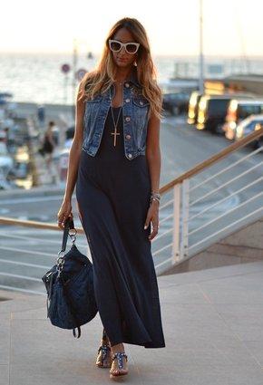 Черное платье длинное с чем носить