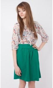 С чем носить юбку зеленого цвета фото