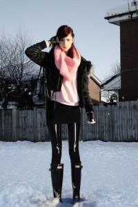 Как носить шарф хомут фото