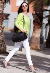Сочетание салатового цвета в одежде