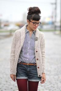 С чем носить зимние шорты  фото