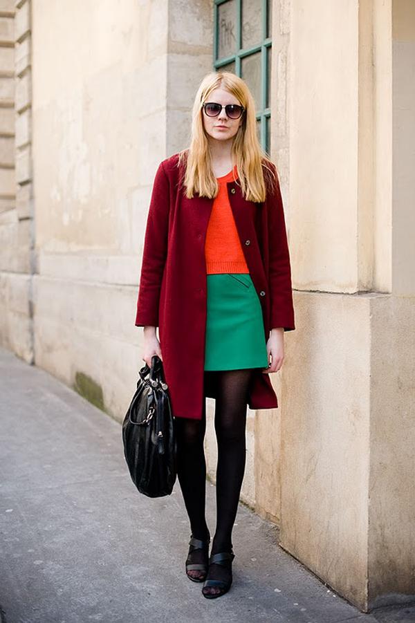 Что носить с зеленой юбкой фото