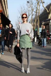 зеленая юбка фото
