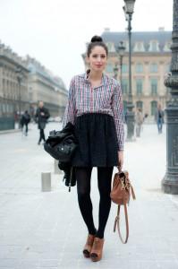 С чем носить шерстяную юбку