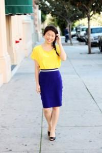 С чем одеть голубую юбку