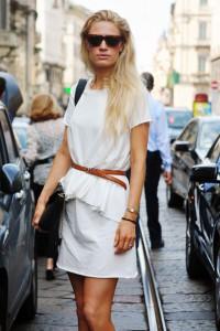 С чем носить белую юбку фото