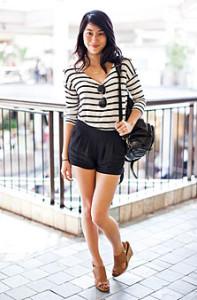 шорты черного цвета фото
