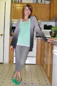 С чем носить зеленые туфли фото
