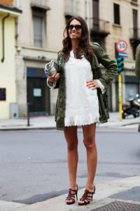 платье белого цвета фото