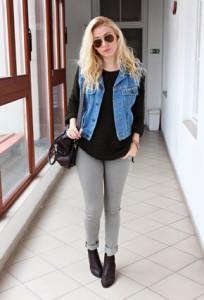 джинсовая жилетка фото