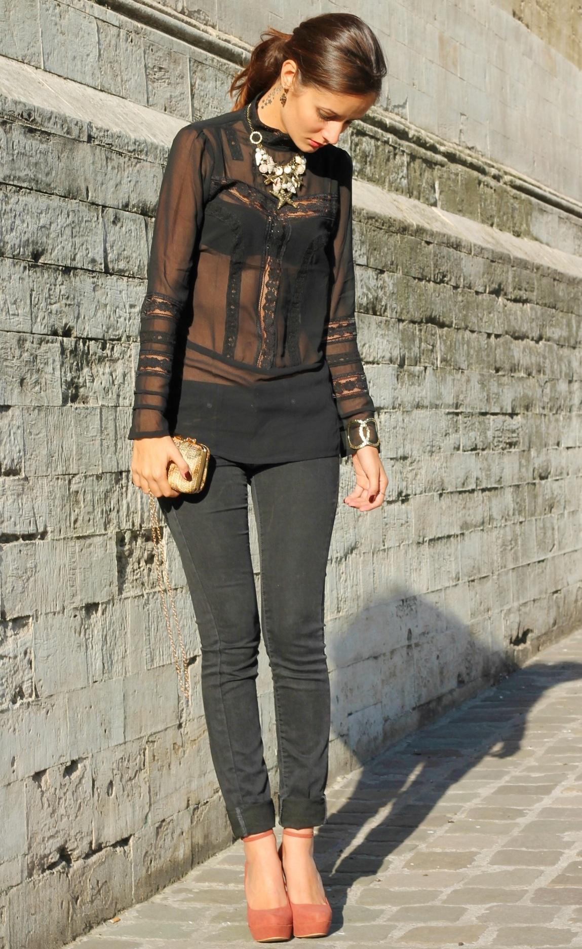 Черная Блузка С Чем Носить