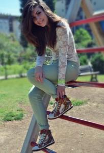 Как носить высокие кроссовки фото