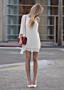 С чем носить белое платье фото