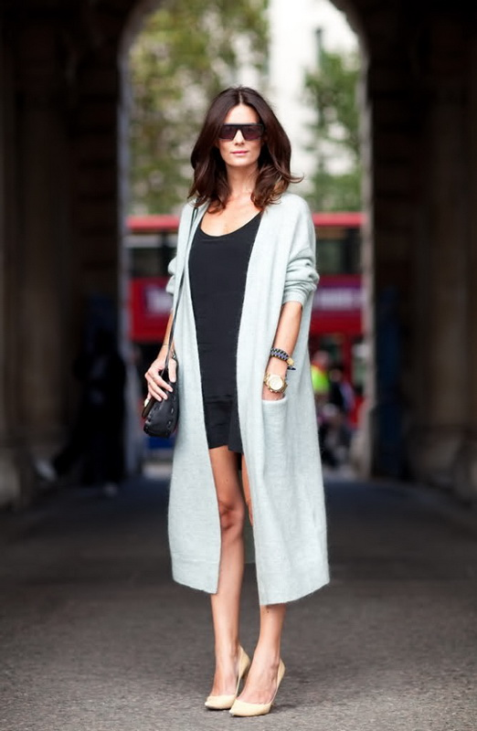 С чем можно одеть длинную кофту