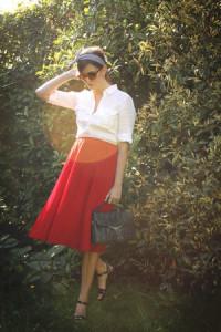 С чем одеть красную юбку