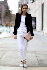 джинсы белого цвета