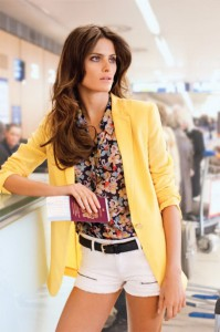 пиджак желтого цвета