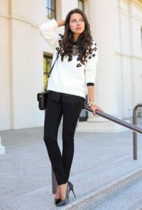 С чем носить черные джинсы фото