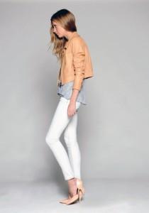 С чем носить белые джинсы фото