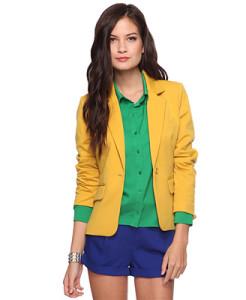Желтый пиджак с чем носить фото