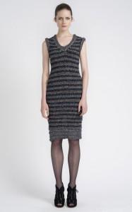 С чем носить трикотажное платье фото