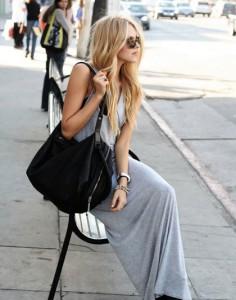 с чем носить платье серого цвета