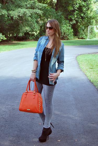С чем носить оранжевую сумку летом