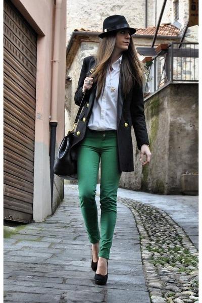 Джинсы Зеленые