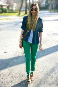 зеленые джинсы фото