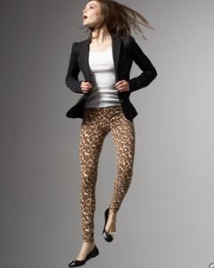 С чем носить леопардовые леггинсы фото