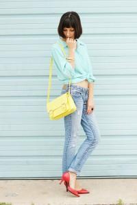 желтая сумка фото