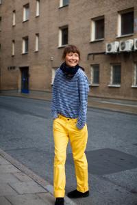 желтые джинсы фото