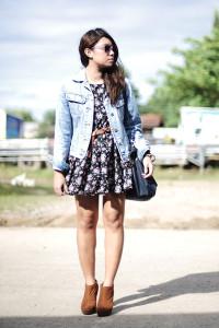 Джинсовка с платьем фото