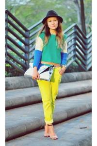 С чем носить желтые джинсы