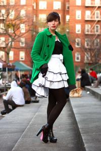 зеленое пальто фото