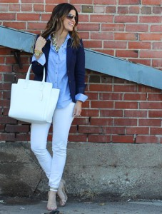 брюки голубого цвета фото