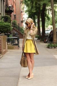 с чем носить юбку желтого цвета