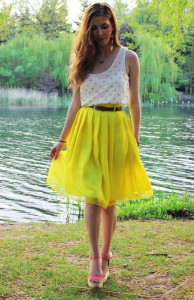 шифоновая юбка фото