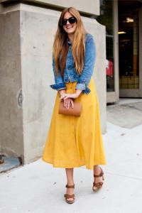 платье желтого цвета
