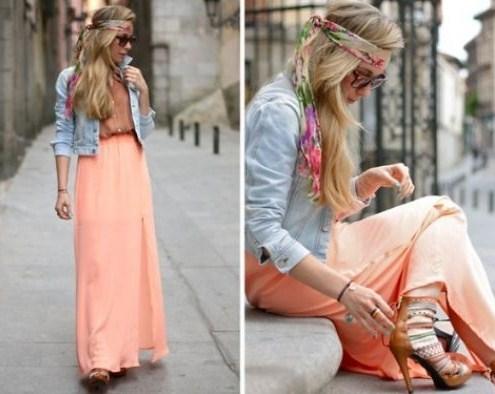 Какую обувь носить с длинной юбкой фото