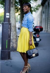 желтая юбка фото