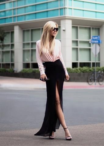 Шифоновая черная юбка купить